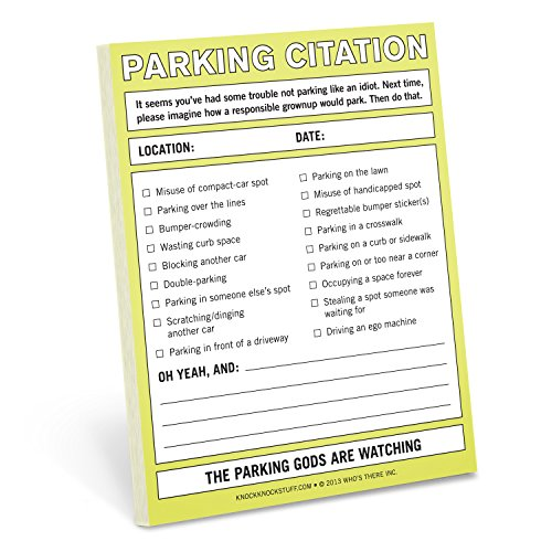 Knock Knock Nifty Note Pad, Parking Citation