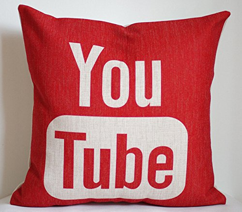 18x18 Inch YouTube pillow case