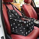 Robluee - Asiento auxiliar de coche para gatos y perros pequeños, bolsa de transporte de coche de cachorro, viaje, impermeable, 40 x 30 x 25 cm
