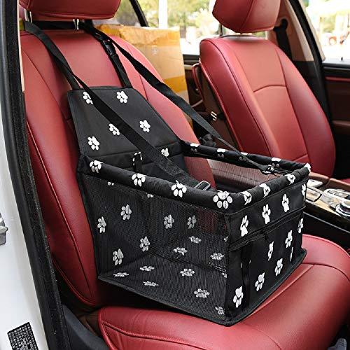 Litthing Asiento del Coche para Mascotas Asiento de Transporte para Perro Gato Plegable Viaje Bolsas Portable Mascotas Cubierta Asiento Vehículo Perro para Viaje (Negro)