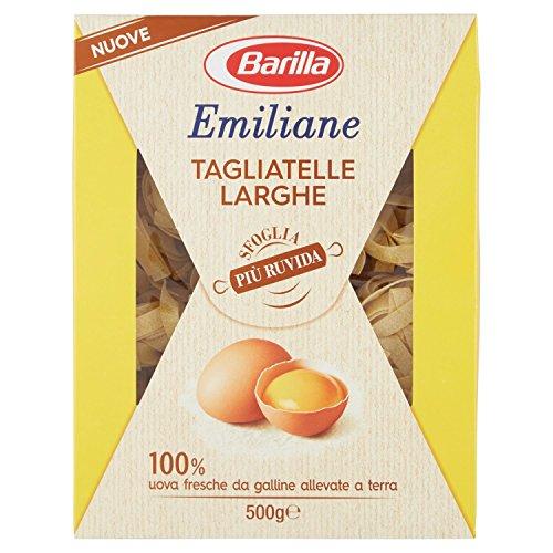 Barilla - Emiliane, Tagliatelle larghe All'Uovo - 6 pezzi da 500 g [3 kg]