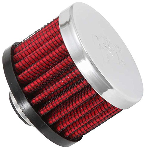 K&N 62-1320 Vent Air Filter / Breather: Vent Air Filter/ Breather; 0.375 in (10 mm) Flange ID; 1.5 in (38 mm) Height; 2 in (51 mm) Base; 2 in (51 mm) Top