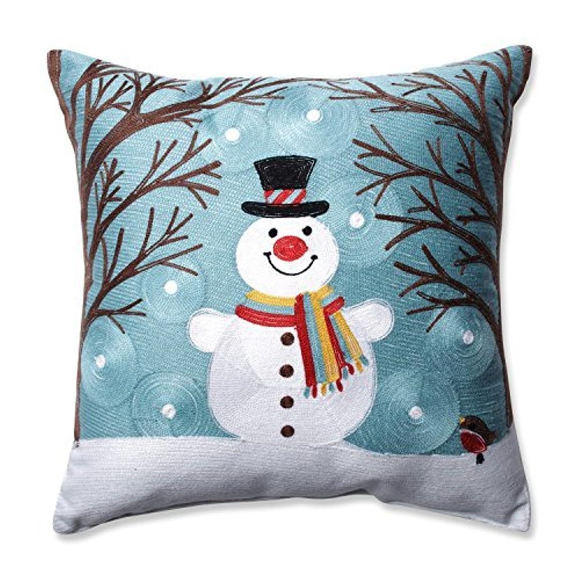 人物正確に妻Pillow Perfect Winter Wonderland Frost Throw Pillow, 16.5