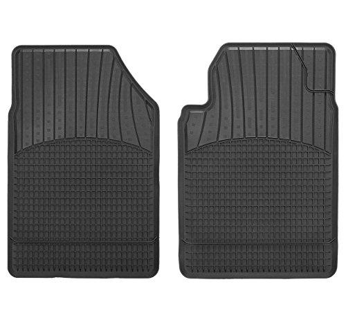 CarFashion 252508 Allwetter A1, Schalenmatte A1, Auto Fussmatten Set in schwarz, 2-teilig, ohne Mattenhalter
