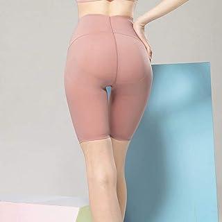 Female Fitness Yoga Pants Hips High Waist Widening High Elastic Sports Riding Leggings Summer,Pink,L