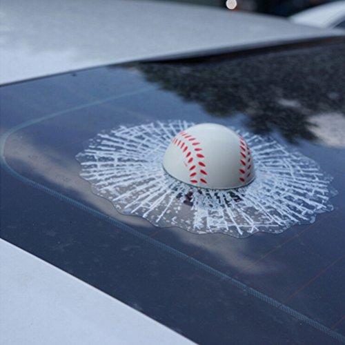 WINOMO Auto 3D Kugeln Fenster Aufkleber Auto Autoaufkleber selbst klebende Tennis Aufkleber (weiße Baseball)