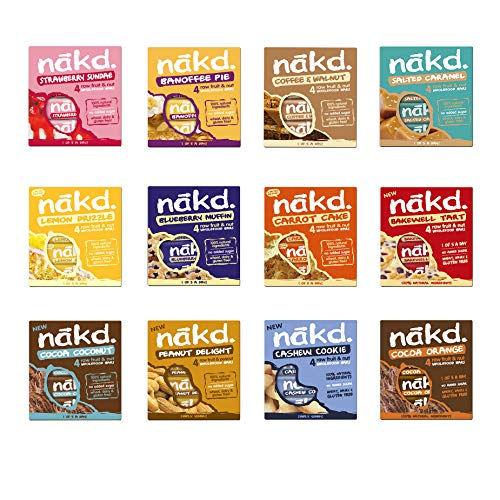 Nakd Fruit & Nut Bars Mixed Case (48 Bars 12 Flavours Original)