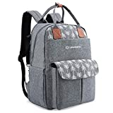 Lekebaby Diaper Bag Backpack Multifunction Large Travel Diaper Backpack Nappy Bag for Mom
