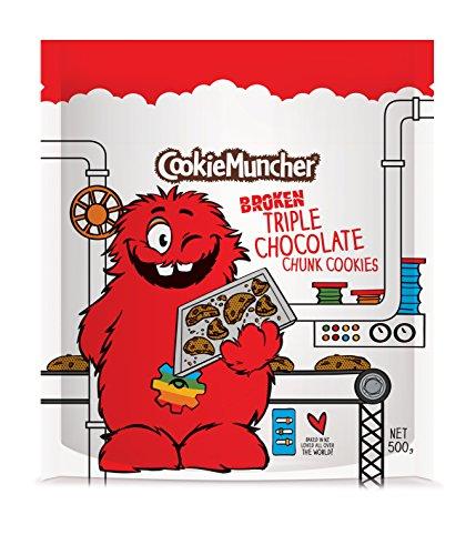【クッキータイム 公式】割れクッキー パック シリーズ(500g X 1袋) 大容量、大人気、おいしい クッキー、かわいい、しっとり、おしゃれ、バタークッキー、チョコレート、お土産にぴったり、キャラクター お菓子、海外のお菓子、割れクッキー、食べ応え、2,500以上送料無料 (トリプル チョコレートチャンク)