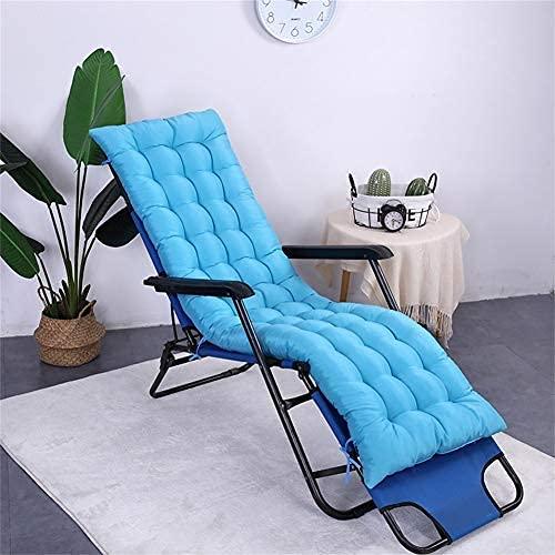 Sun Lounger Cushion Hohe Rückenlehne verdicken Extra große Relaxer Chair Cushion Recliner Cushion Schaukelstuhlkissen Garden Cushions-hellblau 48x155cm