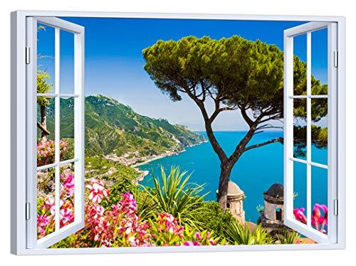 LuxHomeDecor - Cuadro Ventana Ravello Costa Amalfi
