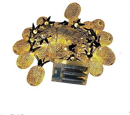 SANNYSIS 2PC Pineapple Led Lights String Christmas Lamp Decorations Xmas Party Home Decor