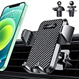 VANMASS Universal Car Phone Mount,【Patent & Safety Certs】Upgraded Steel-cored 3-Level Clip Air Vent Phone Holder for Car, 20X Stable & Durable, Easy Clamp One-hand Operation, Compatible iPhone Samsung