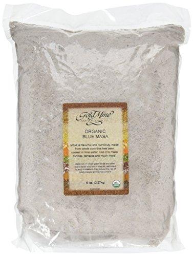 Gold Mine Blue Corn Masa Harina - USDA Organic - Macrobiotic, Vegan, Kosher and Gluten-Free Flour for Healthy Mexican Dishes - 5 LBS