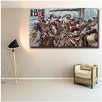 人気のオンラインゲームブリーディングエッジキャンバスアートプリントポスター印刷キャンバス絵画ポスターゲーム愛好家部屋の装飾-60x100cmフレームなし