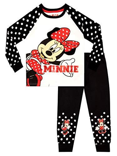 Disney Mädchen Minnie Mouse Schlafanzug Weiß 116