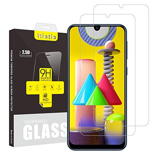 iTieTie 2 Stück Panzerglas Schutzfolie für M31 / M21, Blasenfreie, Hochauflösend, 9H Härte, Premium gehärtetes Glas Displayschutzfolie für Samsung Galaxy M31