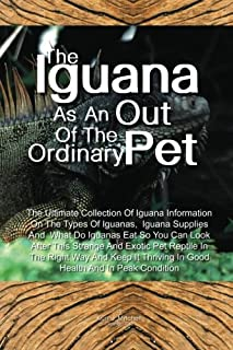 The Iguana As An Out Of The Ordinary Pet: The Ultimate Collection Of Iguana Information On The Types Of Iguanas, Iguana Su...