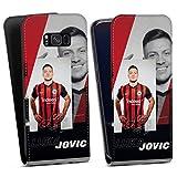 DeinDesign Flip Hülle kompatibel mit Samsung Galaxy S8 Plus Duos Tasche Weiß Hülle Eintracht Frankfurt Luka Jovic Fußball