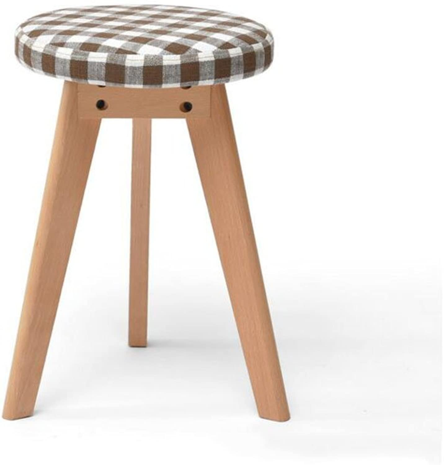 CJC Wooden Stool Meal Stool Household Solid Wood Can Not Be Superimposed Home Office Furniture Kitchen