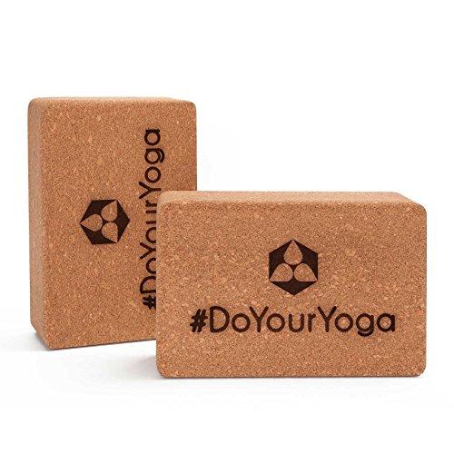 Lot de 2 briques de yoga liège DoYourYoga