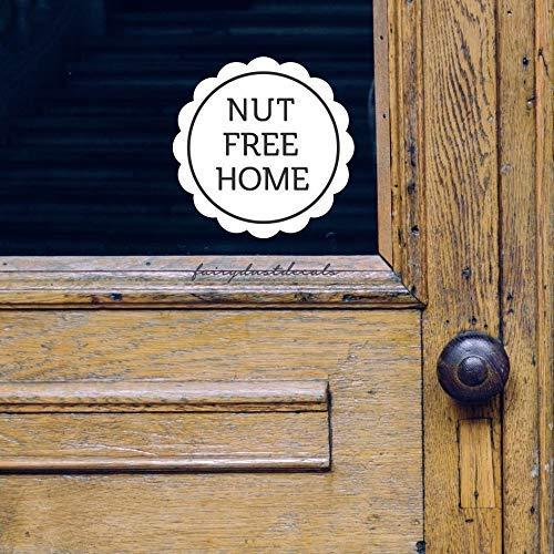 SIGNS Noot Gratis Home Decal Voedsel Allergie Waarschuwing Sticker Noot Gratis Venster Grappige Decal Nut Allergie Waarschuwing Vinyl Decal Sticker Koop Een Koop