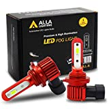 Alla Lighting 5200lm AL-R PY20D Base H10 9145 LED Bulbs, 8000K Ice Blue Fog Lights Bulbs Replacement for Cars, Trucks, 8000K Extremely Super Bright SMD Upgrade