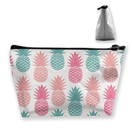 Trapezoid Makeup Pouch Storage Holder Colorful Pine Womens Travel Case Cosmetic Makeup Pouch