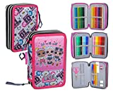 Lol Surprise 92424 - Estuche triple relleno, 44 accesorios escolares, 20 centímetros