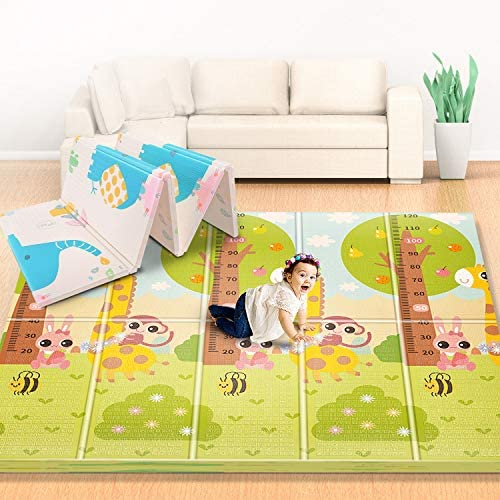 Firares 0 6inch Thicken Foam Reversible Baby Play Mat Foldable Kids Crawling mat XL Waterproof product image