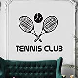 UYEDSR Stickers Muraux Autocollant en Vinyle Club de Tennis Sticker Mural Raquette Sport Maison Design d'intérieur Mur Art décor Amovible Tennis Sport Mural 70x57cm