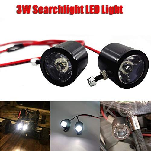 DNOQN 3W Suchscheinwerfer LED-Licht für 1/10 Traxxas TRX4 SCX10 D90 RC Truck Crawler Car Fahrradlichter für Mountainbike Fahrradlicht Fahrradlampenset Fahrradlampen (Schwarz, Diameter :24mm)