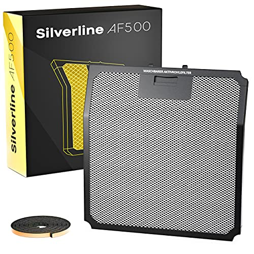 Silverline AF500 AKtivkohlefilter (bis zu 3x waschbar)