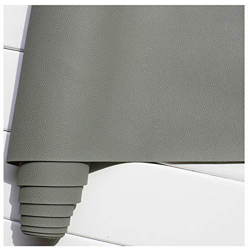 GERYUXA Tela de cueroCueroArtificial, Impermeable, Utilizado para Decorar y Proteger, Remodelar Muebles Sofá, a Prueba de Agua Color Vino, Herramientas, Costura-Gris Medio a2 1.4x5m