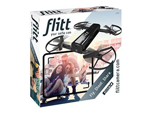 Flitt 20060 - Die fliegende Selfie-Kamera für spektakuläre HD-Videos und Fotos für die Hosentaschen, zusammenfaltbar, fliegende Selfie-Cam mit POP, keine Flugerfahrung erforderlich, per Smartphone fliegen, filmen und sofort teilen