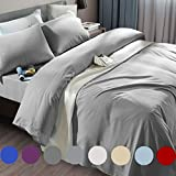 SONORO KATE Bed Sheet Set Super Soft Microfiber 1800 Thread Count Luxury Egyptian Sheets Fit 18-24 Inch Deep Pocket Mattress Wrinkle and Hypoallergenic-6 Piece (Grey, King)