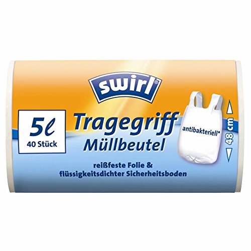 Swirl® Tragegriff Müllbeutel 5 Liter