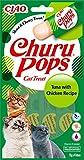 INABA Churu Pops - Katzen Leckerlie zum Füttern aus der Hand - Köstliche, leckbare Katzensnacks -...