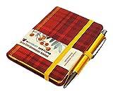 Waverley S.T. (S): Rowanberry Mini with Pen Pocket Genuine Tartan Cloth Commonplace Notebook (Waverley Scottish Tartan Commonplace Notebook)