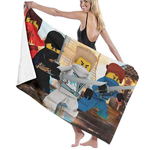 Toalla de playa Nin-Jago Lego de microfibra, grande, rectangular, de secado rápido, portátil, toalla de viaje, ultra absorbente, deportes, viajes, natación, gimnasio, yoga, crucero y camping