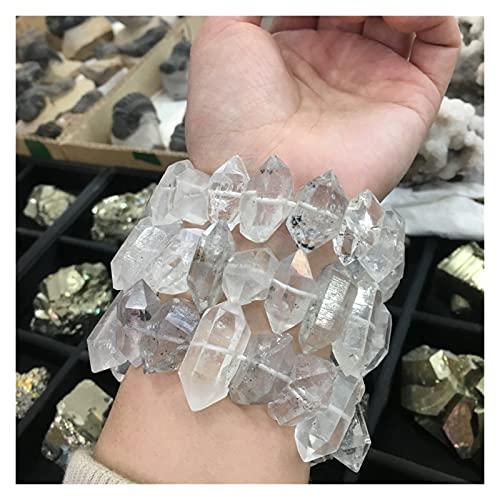 HONGYMY Cristales curativos 1 unids Piedras Naturales y minerales Pulsera de Diamante Pulsera de Piedra áspera Cristales de curación Curn Cortal Bracelet