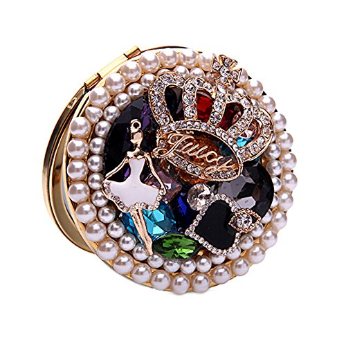 Generic 3D Handmade Mini Round Personalized Compact Mirror for Women Make Up Mirror with Princess Cinderella