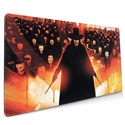 Mau Mat,V Für Vendetta Desk Pad, Auffällige Computer-Pads Für Die Dekoration Von Büro-Pcs,40x90cm