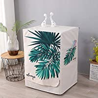 ドラム洗濯機カバー 防塵 日避け 頑丈 無毒 無臭 使いやすい 耐久性-洗濯機カバー-シュロの葉_Mサイズ60 * 55 * 85cm