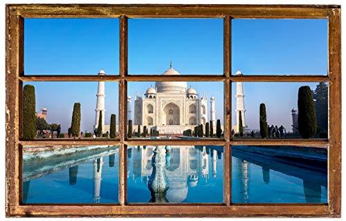 Tadsch Mahal Palast Indien Wandtattoo Wandsticker Wandaufkleber H0860 Größe 40 cm x 60 cm