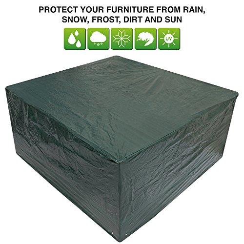 Woodside - Bâche/Housse de Protection Ovale pour Salon de Jardin (Table et chaises) - imperméable - Taille Moyenne