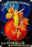 ERMUHEY Cartel retro de The Funny La Chablisienne Ses Chablis con texto en inglés 'The Funny La Chablisienne Ses Chablisisienne - Cartel vintage para pared (30 x 20 cm)