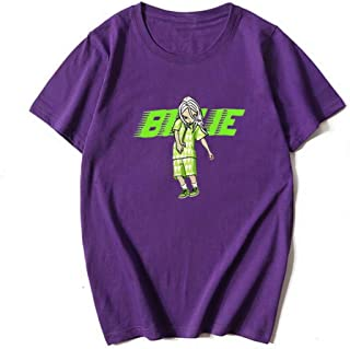 Billie Eilish Printed Series Short Sleeve T-Shirt Boys and Girls Multicolor Summer Short Sleeve