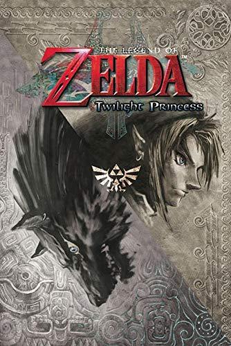 """Póster The Legend of Zelda/La Leyenda de Zelda """"Twilight Princess/Princesa del Crepúsculo"""" (61cm x 91,5cm) + 2 marcos negros para póster con suspención"""