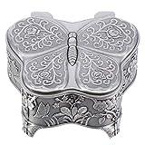 Yardwe Caja de Joyería Pequeña Vintage en Forma de Mariposa Cajas de Regalo Caja de Almacenamiento de Joyería Personalizada para Anillos Pendientes Collar